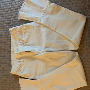 MOTHER White Cha Cha Fray Jeans